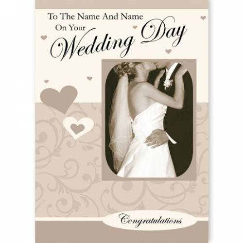 On Your Wedding Day Congratulations Card
