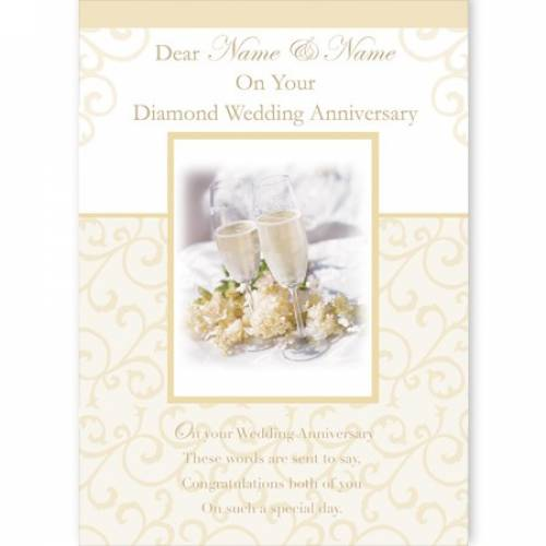 On Your Diamond Anniversary Card
