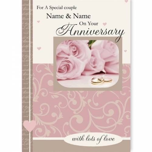 Special Couple On Your Anniversary Card