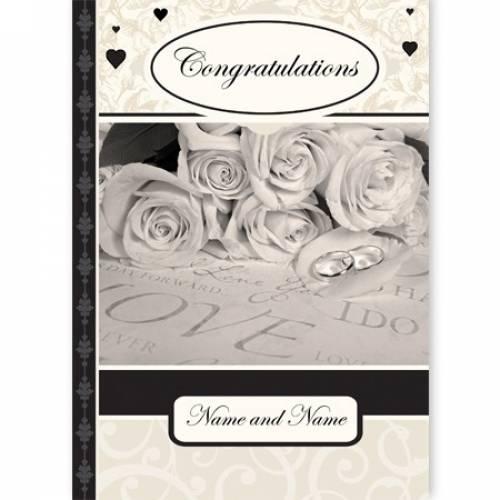 Congratulations Perfect Wedding Day Wedding Card