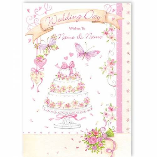 Wedding Day Wishes Wedding Card