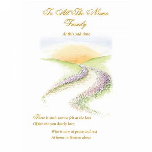 All The Family Sympathy Card