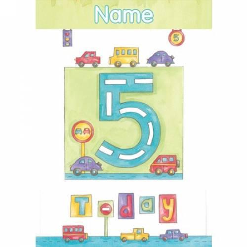 Cars Birthday 5th Birthday Card