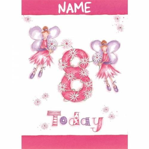 Fairy Daisy 8th Birthday Card
