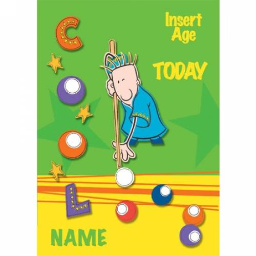Cool Pool Snooker Birthday Card