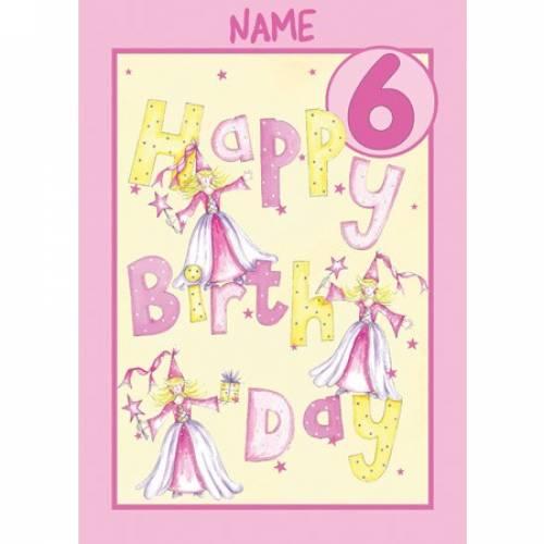 Birthday Girl 6th Birthday Card