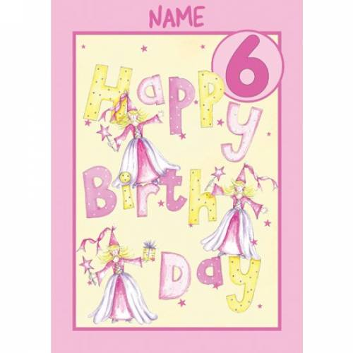 Birthday Girl 6th Birthday Card