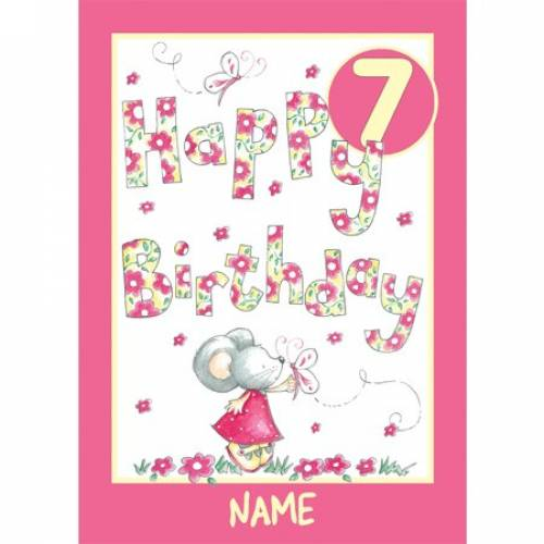 Birthday Girl 7th Birthday Card