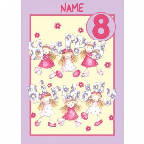 Birthday Girl 8th Birthday Card