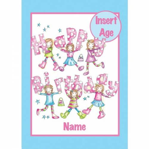 Insert Age Girl Birthday Card