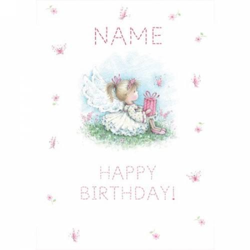 Birthday Girl Pink Fairy Any Age Birthday Card