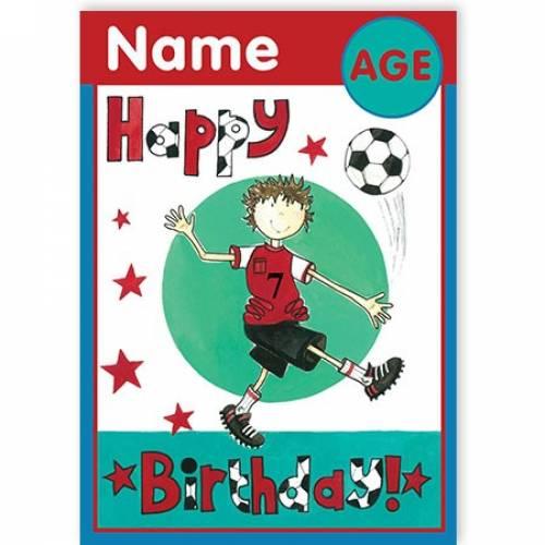 Any Age Football Birthday Card