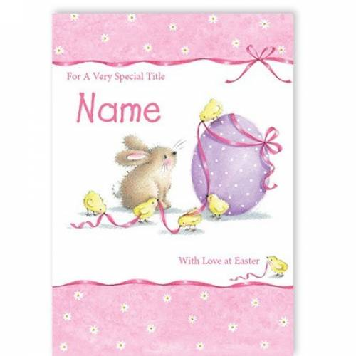 Love On Easter Rabbit Chick Easter Card