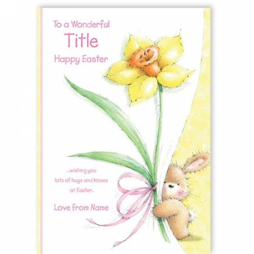 Hugs And Kisses At Easter Card