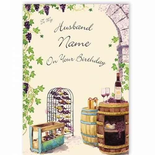 Wine Rack My Husband On Your Birthday Card