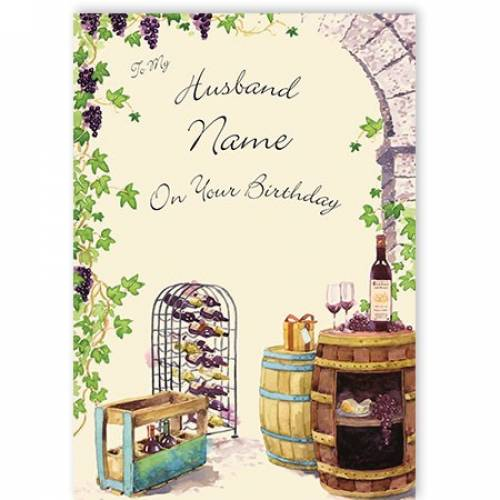 Wine Rack My Husband On Your Birthday Card