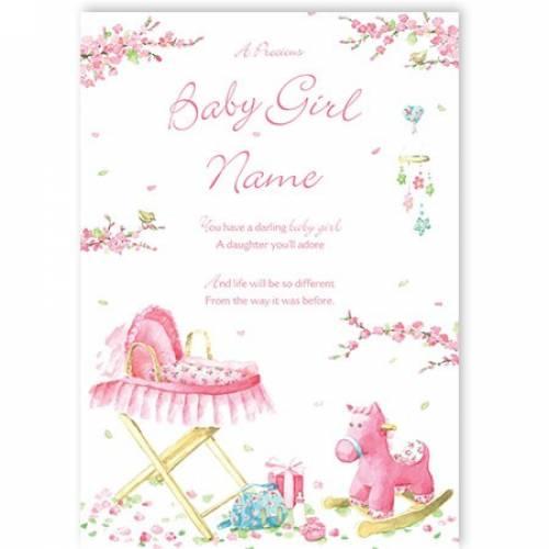 Darling Baby Girl Baby Card
