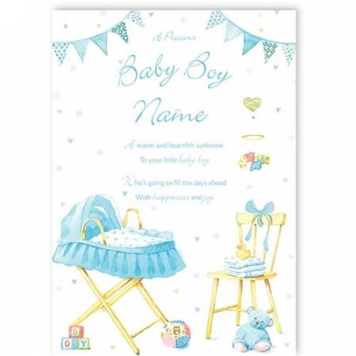 Little Baby Boy Baby Card