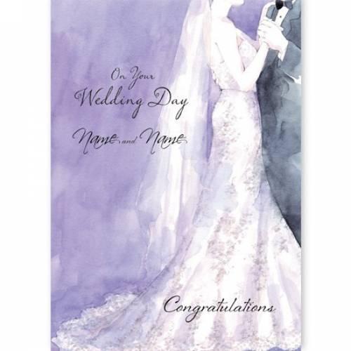Congratulations Bride & Groom On Your Wedding Day Card