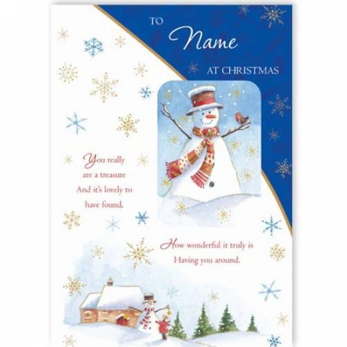 You Really Are A Treasure Christmas Card