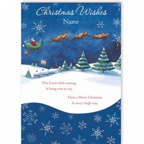 Christmas Wishes Festive Little Message Christmas Card