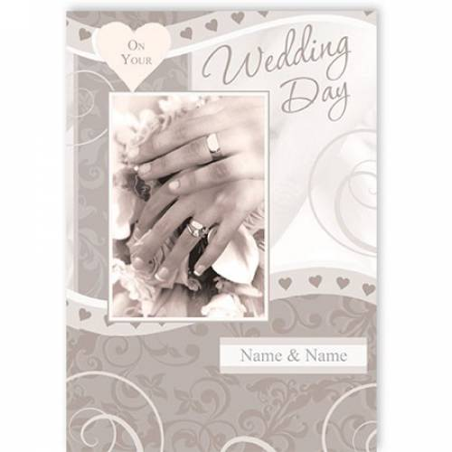 On Your Wedding Day Wedding Card