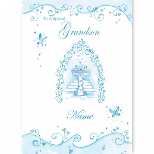Special Grandson First Communion Card