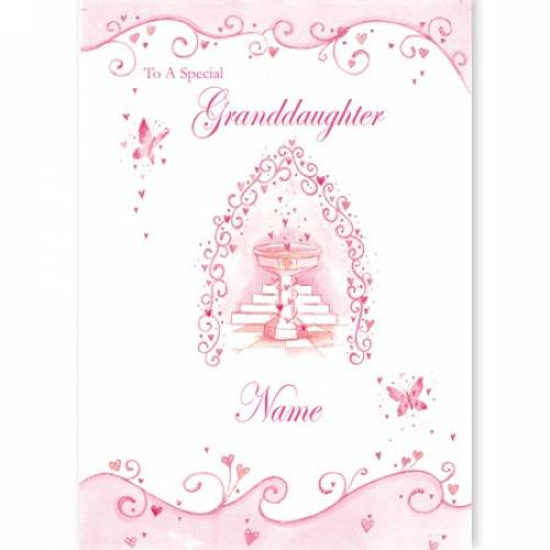 Special Granddaughter First Communion Card