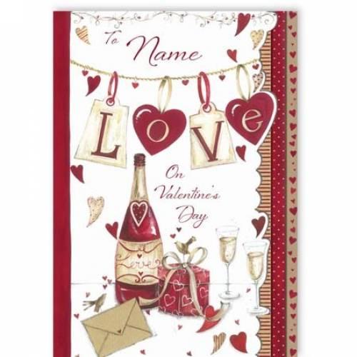 Love On Valentine's Day Valentine's Card