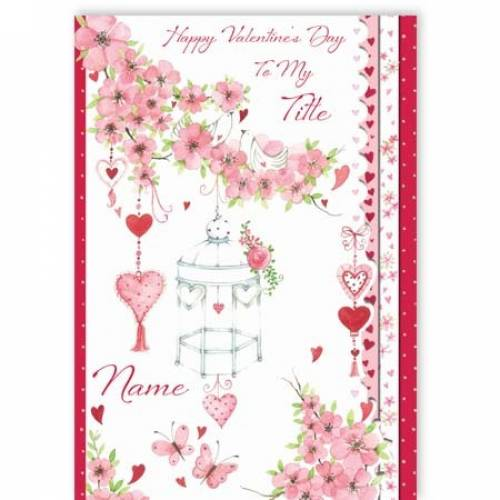 Floral Hearts Valentine's Day Card