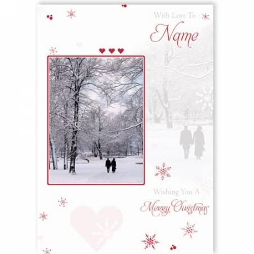 Winter Scene Merry Christmas Card