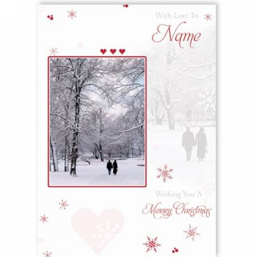 Winter Scene Merry Christmas Card