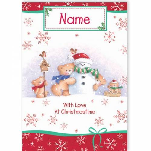 With Love At Christmastime Christmas Card