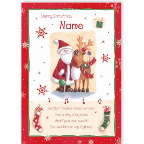 Rudolph The Red-nosed Reindeer Christmas Card
