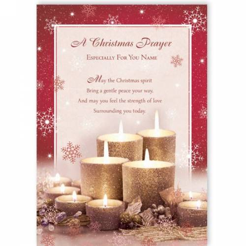 Christmas Prayer Especially For You Christmas Card