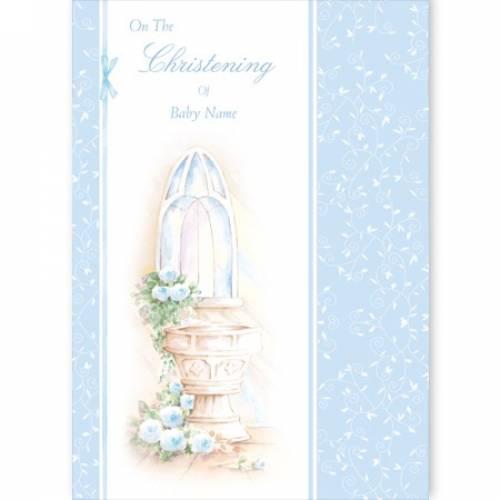 Blue Boy - On The Christening Card