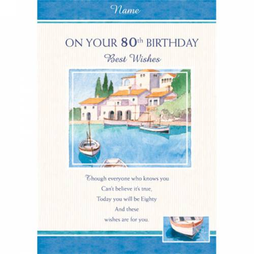 Best Wishes On Your 80th Birthday Card