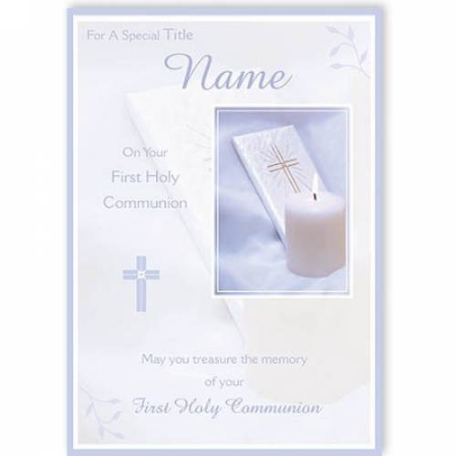 Treasure The Memory Your First Holy Communion Card