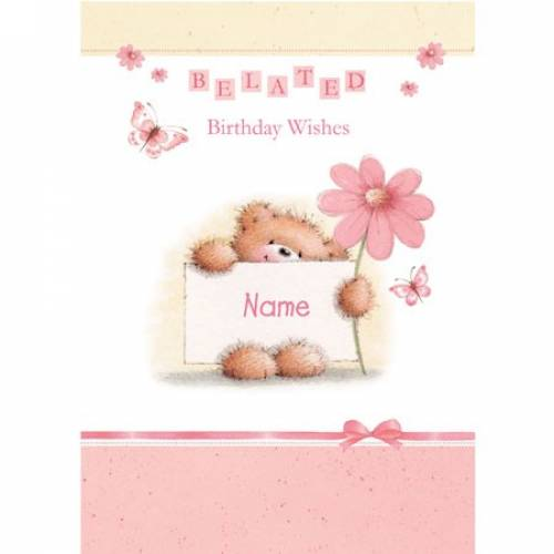 Belated Birthday Wishes Card