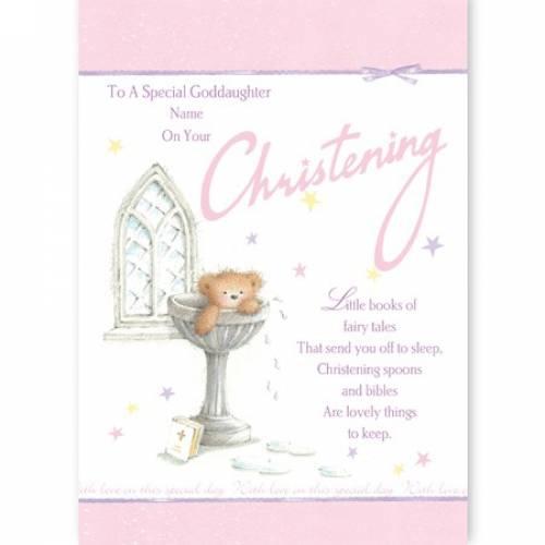 Special Goddaughter Christening Card
