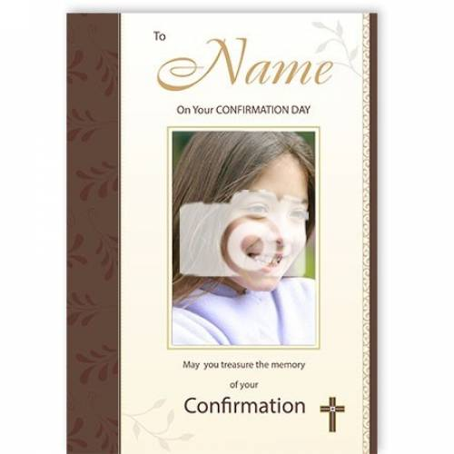 May You Treasure The Memory Of You Confirmation Card
