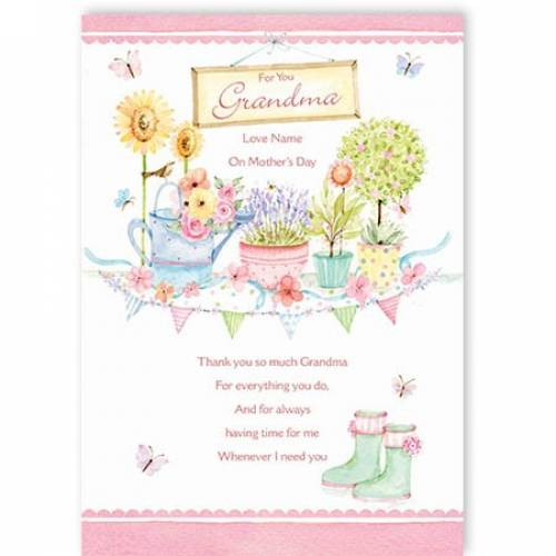 For You Grandma On Mothers Day Card