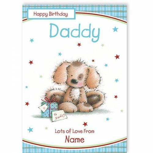 Dog To Daddy Happy Birthday Card
