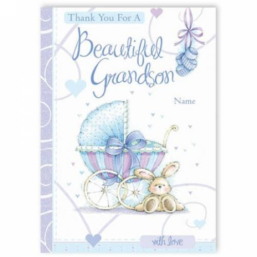 Thank You For A Beautiful Grandson Baby Card