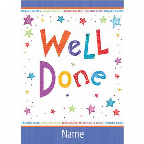Congratulations Well Done Card