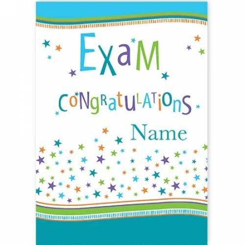 Congratulations Exam Card
