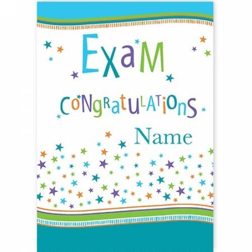 Congratulations Exam Card