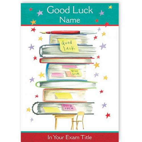 Books Good Luck In Your Exam Card