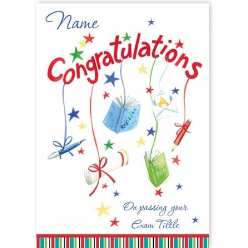 Books Certs Congratulations On Passing Your Exams Card
