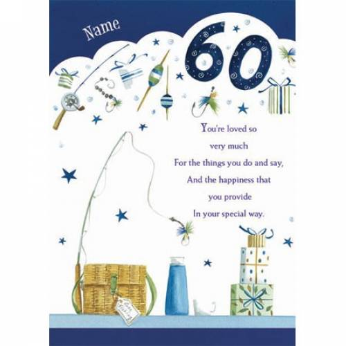 Fishing Happy 60th Birthday Card